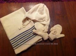 Набор шапка, шарф, варежки
