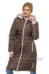 Удлиненная зимняя куртка эльза для женщин размерный ряд 44-56