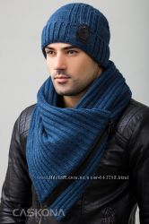 Комплект из вязаной шапки и снуда Caskona