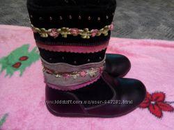 фирменные сапожки для девочки