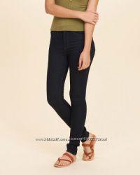 Темно синие джинсы скинни hollister w28 31l