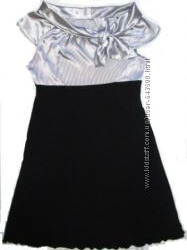 Платье с серебристым верхом, в состоянии новой вещи, 42-44
