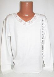 Блузка футболка с кружевом Baykar, Турция, 134-152