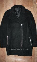 Акция Черное пальто косуха от h&m black biker coat in a wool blend.