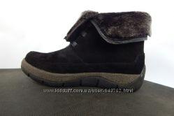 Зимние женские кожаные ботинки Распродажа