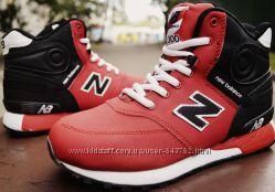 Зимние красные кроссовки New Balance