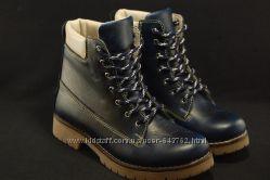 Зимние ботинки натуральная кожанатуральный мех