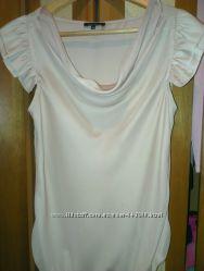 Шикарная нежная блузка от River Island цвета пудры размер 10