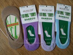 Женские  бамбуковые следочки с силиконовой антискользящей вставкой