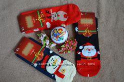 Женские плотные новогодние носки