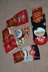 Женские махровые новогодние носки с антискользящим напылением