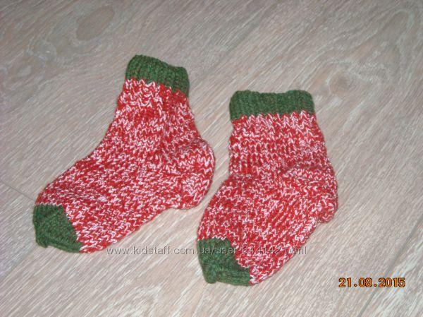 Детские вязаные носочки, новые, ручная работа