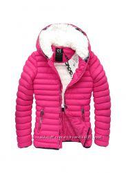 Женская зимняя стёганая куртка, пуховик  на синтетическом пуху
