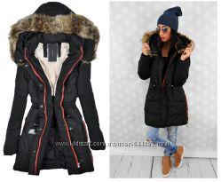 Женская зимняя парка куртка тёплая пуховик