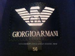 Пальто мужское осень-весна 56 размера Giorgio Armani, длина 104 см