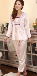 Женская пижама из искусственного шёлка