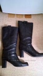 Фирменные кожаные сапоги 37, 5р. прибл. 25, 2 см. Alberto Gozzi и 39р. 25,