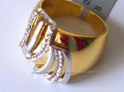кольца с золотым покрытием, 18-19 размеры, ювелирная бижутерия