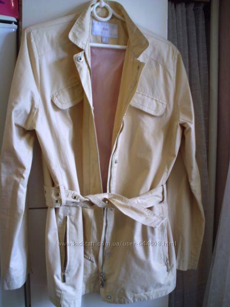 кожаная куртка-жакет цвета пепел розы, р. М из нубука и еще классная одежда