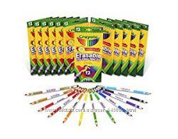 Карандаши цветные стирающиеся оригинальные Крайола Crayola c резинкой
