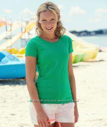 Женская футболка много цветов, футболки женские оригинал Fruit of the loom