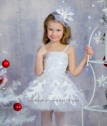 Костюм Снежинки белое пышное платье ПРОКАТ 250грн