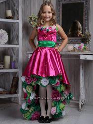 Платье выпускное нарядное с розами ВИРДЖИФЛОРА