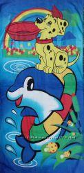 Велюровые полотенца. Полотенца для бассейна Тематика животные, детская