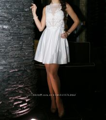 Коктейльное, свадебное платье, выпускное, вечернее белое Rica Mare M-L