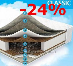 Матрас Sleep&Fly Classic 2в1 кокос с различной жесткостью сторон. Акция-20