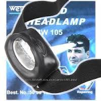 фонарик налобный на 5 led в наличии новый китай
