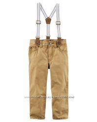Модные джинсы для мальчика Картерс на подтяжках