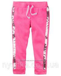 Флисовые неоновые штаны для девочки Стразики