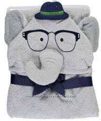 Хлопковое полотенце с капюшоном Слоник джентельмен