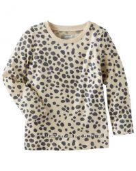 Лонгслив для девочки Леопард