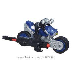 Набор Черный Человек-паук на мотоцикле. Оригинал Hasbro