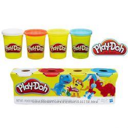 Набор пластилина Play-Doh 4 цвета общим весом 448 грамм Динозавры