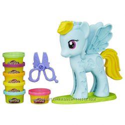 Набор пластилина Play-Doh Стильный салон Рэйнбоу Дэш. Оригинал Hasbro