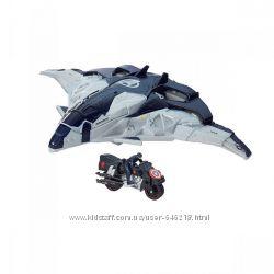 Самолет Мстителей с фигуркой Капитана Америки на мотоцикле. Оригинал