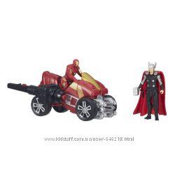 Набор фигурок Делюкс Тор и Железный человек на квадроцикле. Оригинал Hasbro