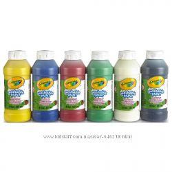 Набор легко смываемые краски Crayola 6 цветов 1422 мл Сделаны в США
