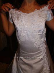 Белое нежное элегантное платье, замуж в нем не выходили, 52 размер