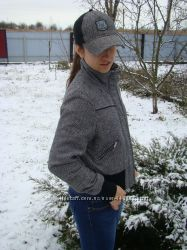 Прикольная демисезонная курточка Jane norman в наборе с кепкой, р. 44-46