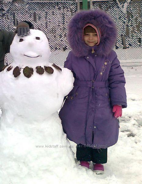 Продам зимнее пальто Danilo с песцовой опушкой. размер 110. бу