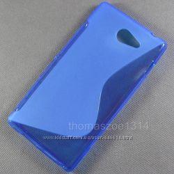 Чехлы для Sony Xperia M2  пластиковые и силиконовые