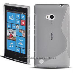 Чехлы для Nokia Lumia 720 пластиковые и силиконовые