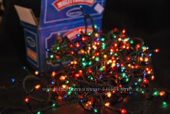 Гирлянда новогодняя 200 лампочек мульти цвет