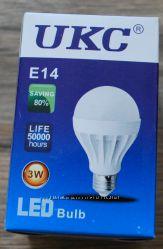 Светодиодная LED лампочка UKC Bulb Ligh 3W E14 круглая