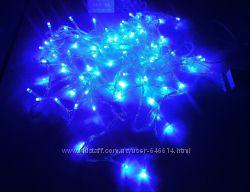 Гирлянда нить светодиодная 500 LED синий цвет