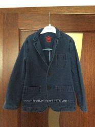 Крутой джинсовый пиджак Massimi Dutti 122-134